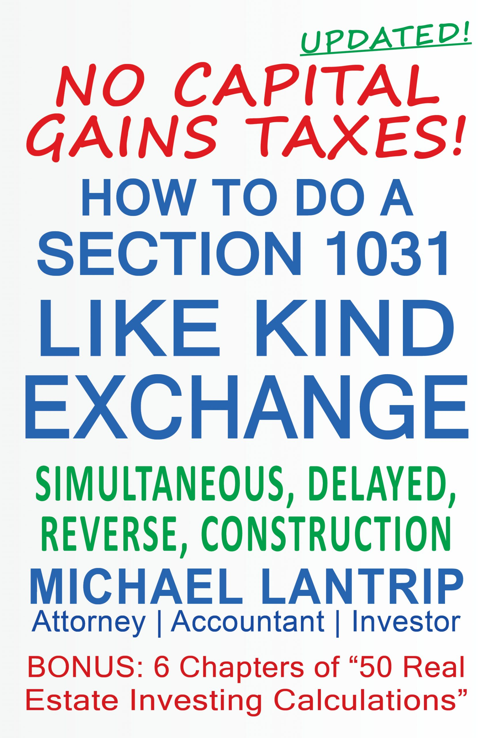 Dictionary for Section 1031 Exchange